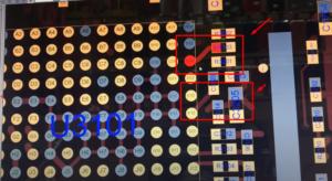 Вид материнской платы и прохождение дорожек части контроллера аудио на мониторе компьютера